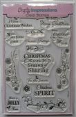 Crafty Impression – Christmas Sharing – Clear Stamp – KNST004